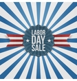 paper card template with labor day sale text vector image vector image