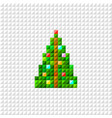 pixel art christmas tree vector image