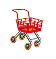 red shopping cart icon flat design toy cartoon vector image