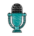 retro old microphone icon vector image vector image