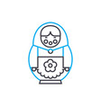 russian doll linear icon concept russian doll vector image vector image