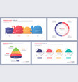 set clean and minimalist infographic vector image vector image