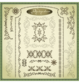 Set of decorative elements for design vintage vector image