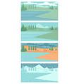 set spring summer autumn and winter landscapes vector image