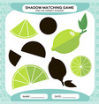 shadow matching game find the correct shadows vector image