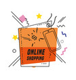 shopping online commercial tag vector image vector image