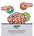 smart brain ideas vector image vector image