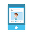 social network profile cartoon vector image