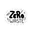stock zero waste label with lettering vector image