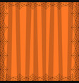 striped orange square background with cute vector image