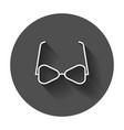 sunglass icon eyewear flat with long shadow vector image vector image