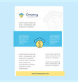 template layout for cloud dollar comany profile vector image vector image