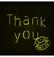 Thank you silhouette of lights vector image