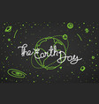 the earth day doodle style vector image vector image