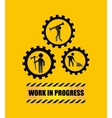 under construction label isolated icon design vector image vector image