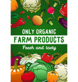 vegetables organic food veggies and greenery vector image vector image