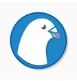 White pigeon logo or icon vector image vector image