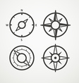 Wind rose and compass retro design collection vector image