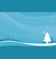 winter landscape and snowflakes background vector image