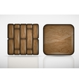 wooden app icons vector image vector image