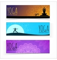 Yoga banner collection vector image vector image