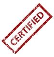 Grunge certified stamp vector image