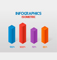 modern isometric infographics element template vector image