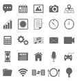 Application icons on white background vector image