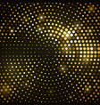 abstract black background with golden glitter vector image vector image