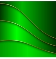 abstract metal color background with curves and vector image vector image