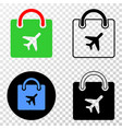 airport shopping bag eps icon with contour vector image vector image