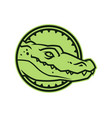alligator head in circle crocodile character icon vector image vector image