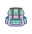 backpack travel style to expedition tourist vector image vector image