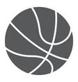 basketball ball glyph icon sport and game vector image vector image