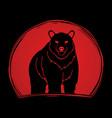 big bear standing vector image