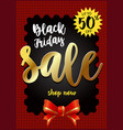 black friday sale banner best sale vector image vector image