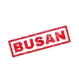 Busan Rubber Stamp vector image vector image