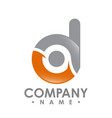 business corporate letter d logo design colorful vector image vector image