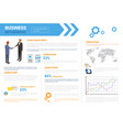 business infographics set with copy space vector image vector image