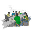 businesspeople in business meeting for future vector image vector image