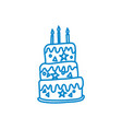cake birthday design graphic template vector image