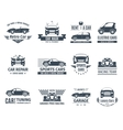 Car Logo Set Black vector image