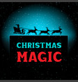 christmas magic night santa time vector image vector image