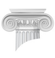 classical order ionic capital vector image