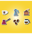 color icons with coffee vector image vector image
