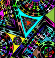 colored abstract figures vector image vector image