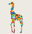 colorfully giraffe vector image vector image