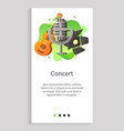 concert musical instrument guitar and mike web vector image