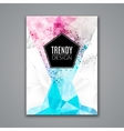 Cover Report Business Colorful Triangle Polygonal vector image vector image