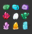 crystalline stone or gem precious gemstone magic vector image